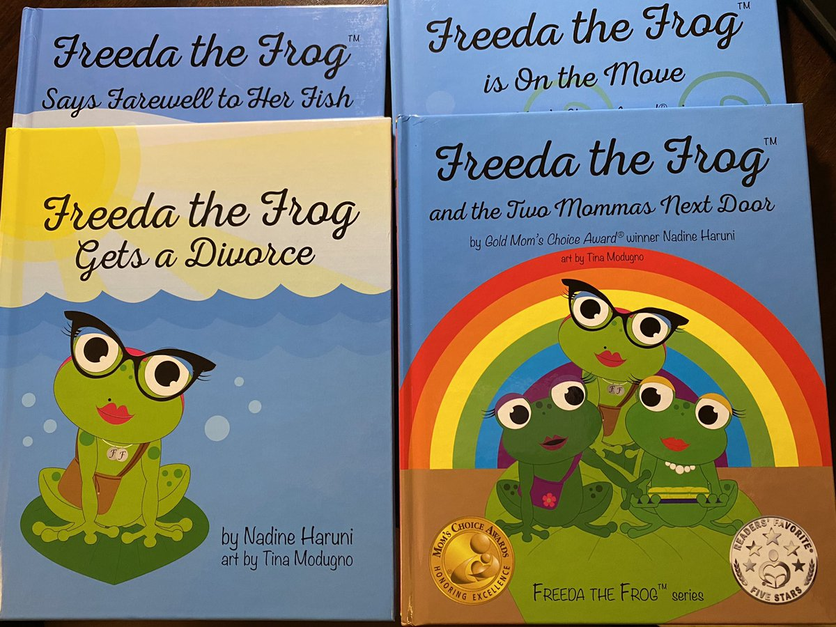 My Freeda the Frog series has arrived! A wonderful addition to my social justice library. These books focus on diverse families- divorce, 2 moms, and blended families. The last book focuses on coping with death. So excited to use with kiddos. @JayBilly2 @mhayes611 @msafischer https://t.co/lZCFzTF3e1