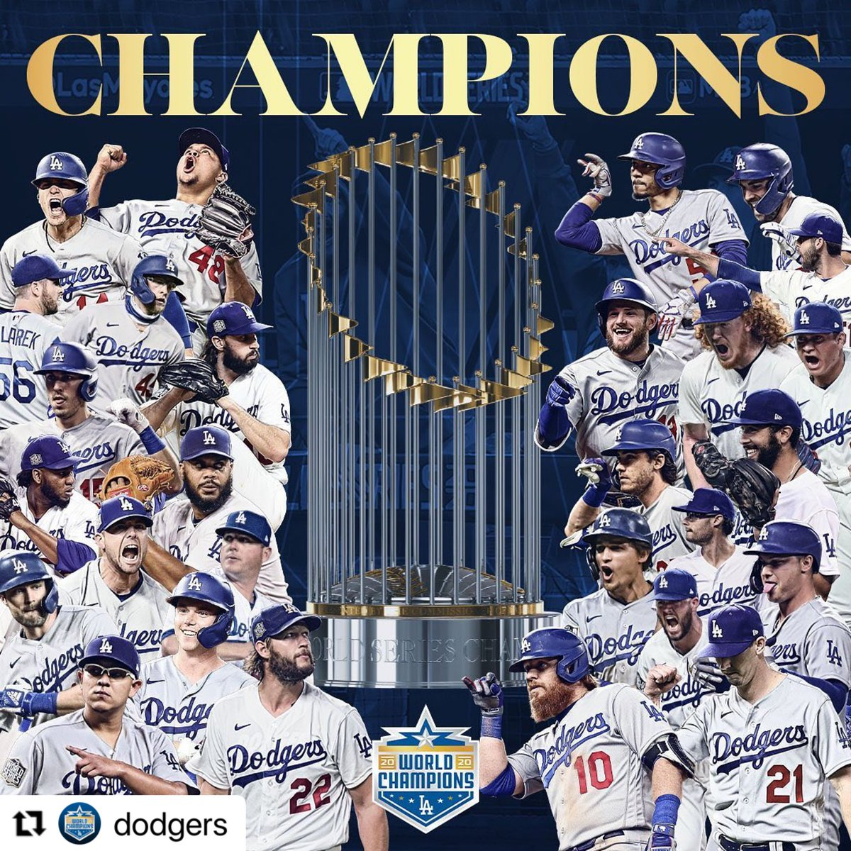 Congrats to @Dodgers and @DodgersFdn on an exceptional year in the midst of so much adversity! #JackieRobinson #SportsHistory