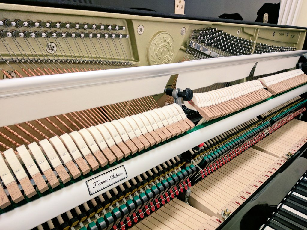 Tuning a 'Kawai' K-200 Upright Piano dating from 2019 in Wolverhampton, West Midlands -   #kawaii #kawaipiano #wolverhampton #musicians #music #pianotuner #pianist #pianotuning #kawaimusic #services #pianoplayer #classicalmusicians #kawaiuk #pianoteachers @KawaiPianosUK https://t.co/XQUh5Hj3fp