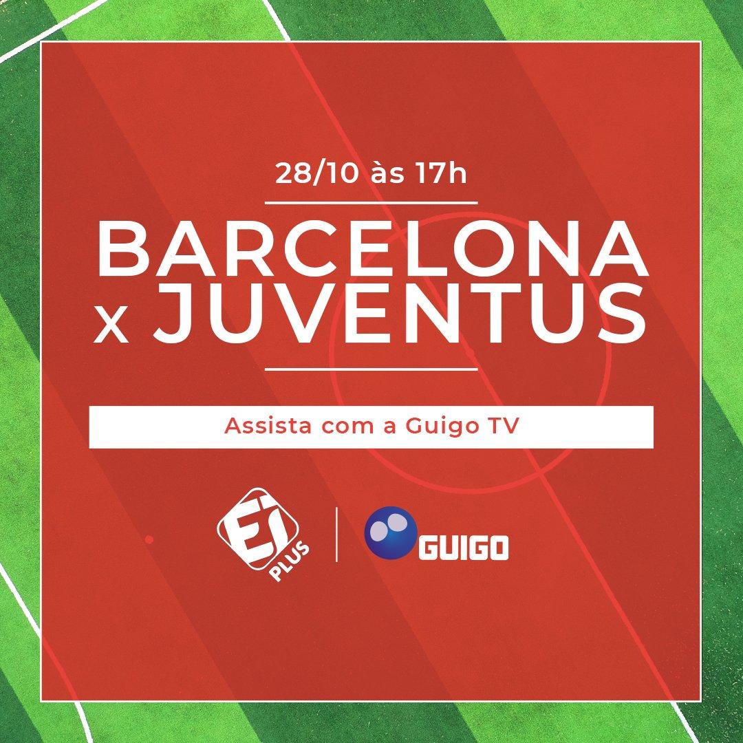 Quer futebol clássico? Então toma! Hoje,quarta-feira, você confere essa super partida entre Barcelona x Juventus, ao vivo, às 17h00, na @eiplus. 😱⚽🔥 Se você ainda não é assinante, clique aqui https://t.co/bSfpkW7Nww e assine agora mesmo para ter acesso imediato! 😉🍿📲 https://t.co/wrVSy0UaFz