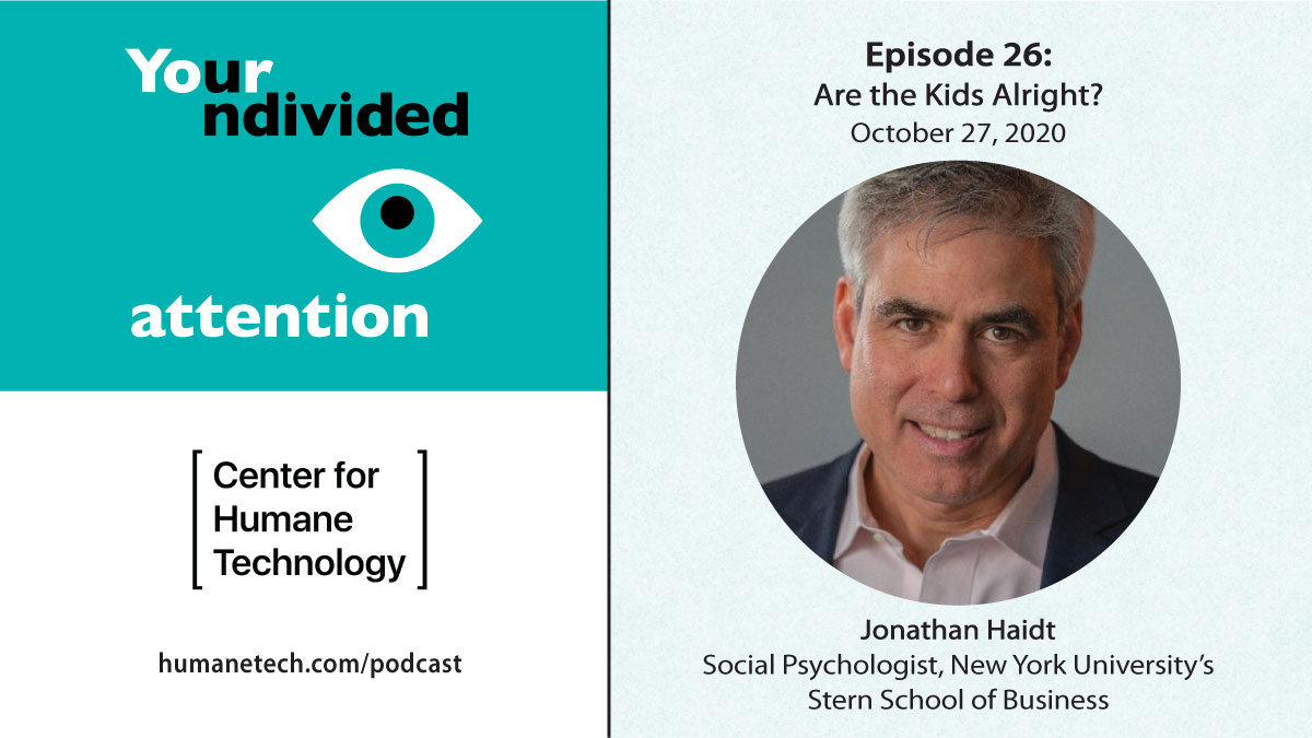 In this episode of #YourUndividedAttention with NYU social psychologist @JonHaidt, we examine the mechanics of manipulation that have led to a generation wide shift in mental health harms. Listen, share, and start a conversation with your family.