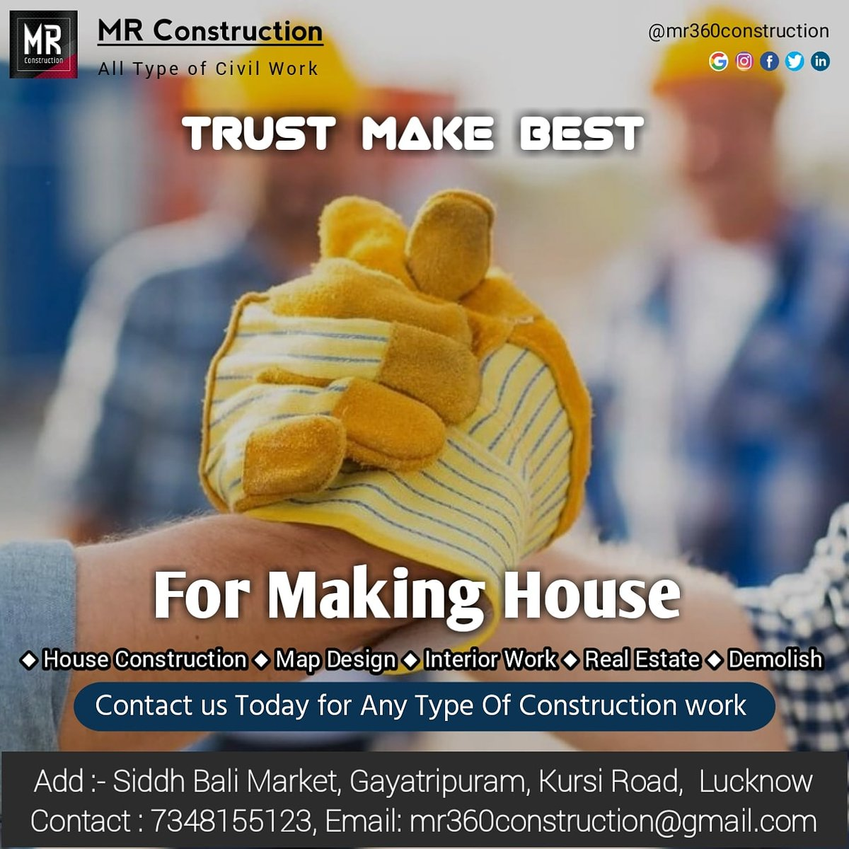 #Construction #Map Design #Interior #renovation #House Construction #House #Google #Contractor Lucknow #building #architects #MR Construction Lucknow #MR https://t.co/OngWHrnvOs