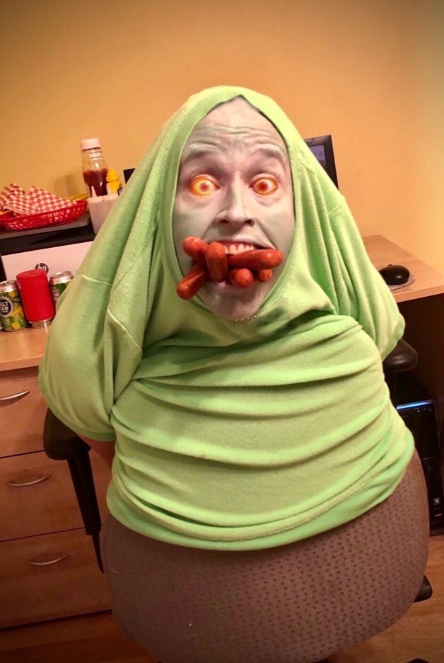 Working from home today as Slimer from Ghostbusters. #Ghostbusters #Slimer #WorkFromHome #whoyougonnacall #heslimedme #ivanreitman #billmurray #danaykroyd #haroldramis #1980s #80s #80smovies #ghost #QuarantineLife #PictureOfTheDay https://t.co/4n7QLAIs2k
