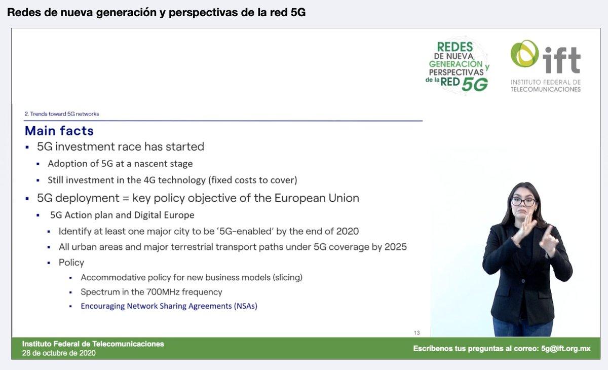 #EnVivo. Foro de redes de nueva generación y perspectivas de la red 5G. Escribe tus preguntas a 5g@ift.org.mx   https://t.co/yzFRw5w7b0 https://t.co/BCTKSjwxDY