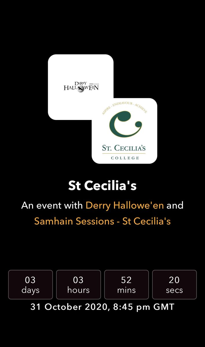 The countdown is on to a very special performance #DerryHalloween 🎃🎃