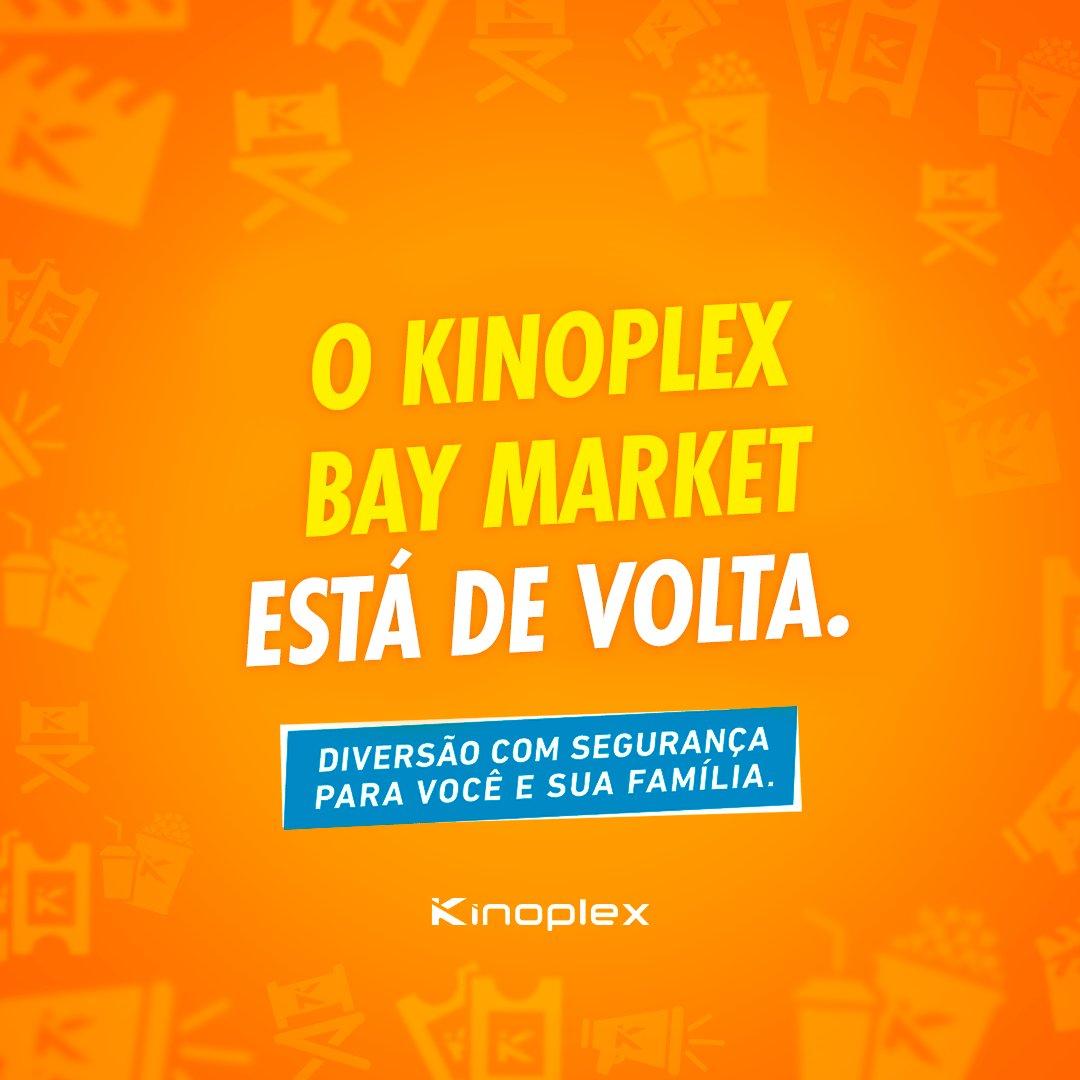 É com muita alegria que comunicamos a reabertura do Kinoplex Bay Market (Niterói). A partir de amanhã (29/10), estaremos de portas abertas para recebê-lo e proporcionar uma experiência segura e repleta de magia e emoção. Confira a programação: https://t.co/vqT0dlWjFQ https://t.co/RlZeuE9QUT