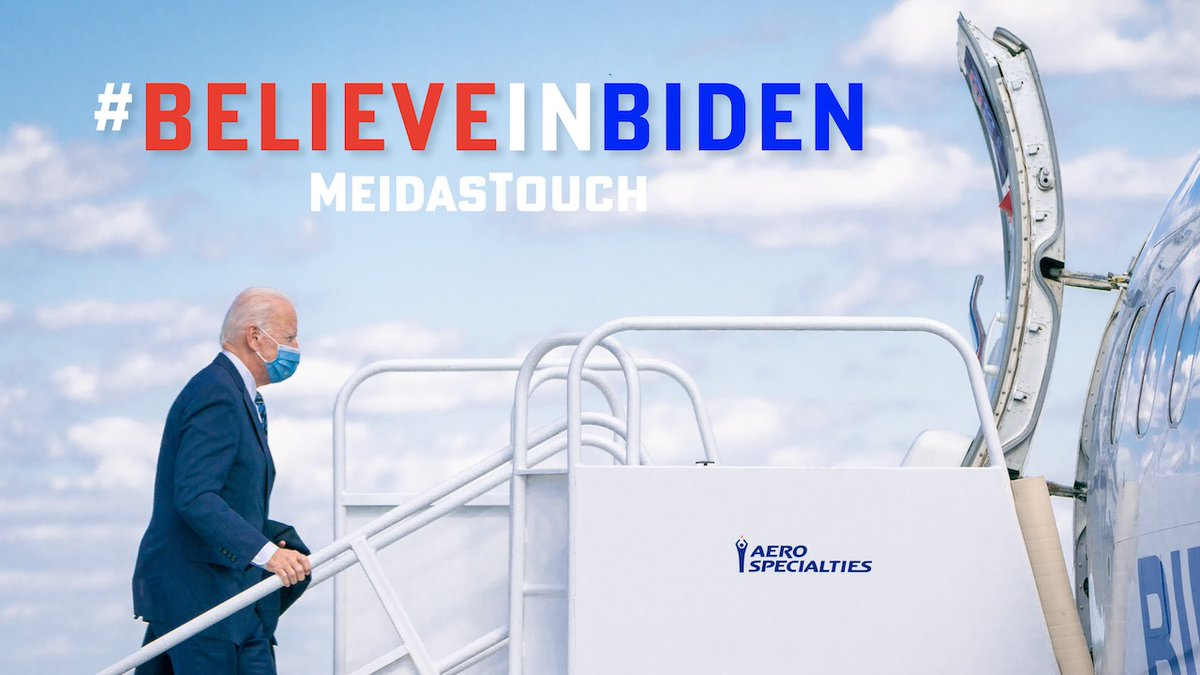 We need 2,500 retweets on this: We are up on TV with this ad in PA, FL and IA through Election Day. Let's make sure everyone sees it! #BelieveInBiden