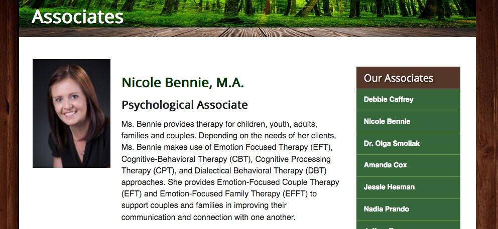 Meet New Leaf Associate Nicole Bennie, M.A: Ms. Bennie provides therapy for children, youth, adults, families and couples.   Read more: https://t.co/HJZkgxbEYN  #Psychology #Psychologist #MiltonON #MentalHealth #Depression  #Therapy #Therapist #Suicide #Addiction #CBT #Autism https://t.co/0bFzSCHRsm
