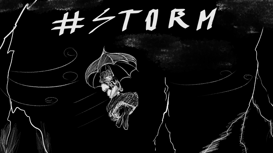 Yuukarin Kazamins.  #Inktober #Inktober2020 #InktoberDay17 #storm #幽香 https://t.co/1URGjp8El4