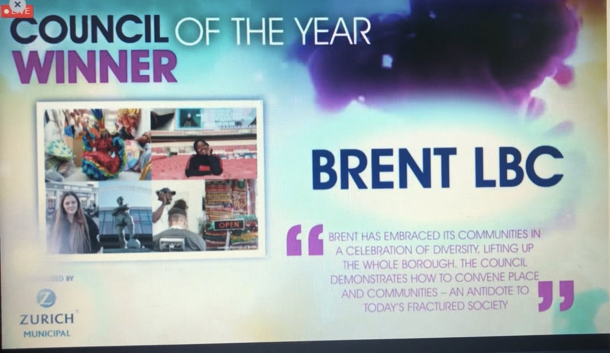 """Thank you @lgcplus. We are so proud to have been awarded Council of the Year at this year's #LGCAwards 🥳  Judges said """"Brent has embraced its communities in a celebration of diversity, lifting up the whole borough.""""  Congrats to all the other nominees and winners this evening 👏 https://t.co/eWvbykcOmz"""