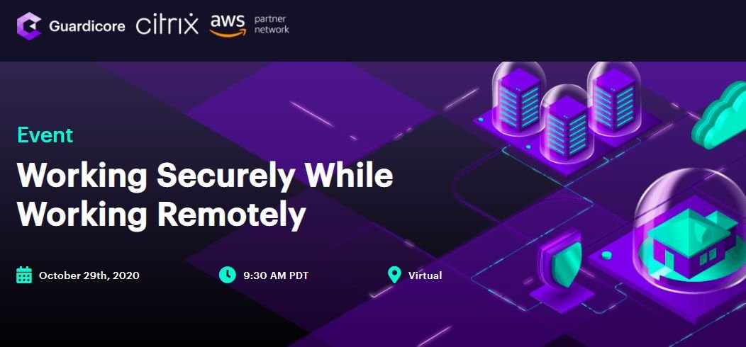🏠 Tomorrow, be sure to join us @AWS and @citrix at 9am PT for a webinar on Working Securely While Working Remotely!  Register here: https://t.co/l8F66V6ebS  #Webinar #RemoteWork #Security https://t.co/5q6b8EJH4h