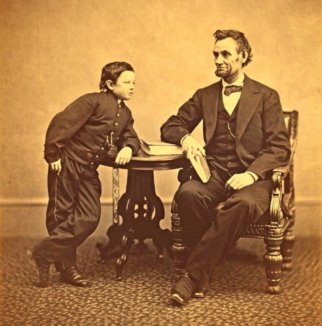 The Boss, with his son Tad. #History
