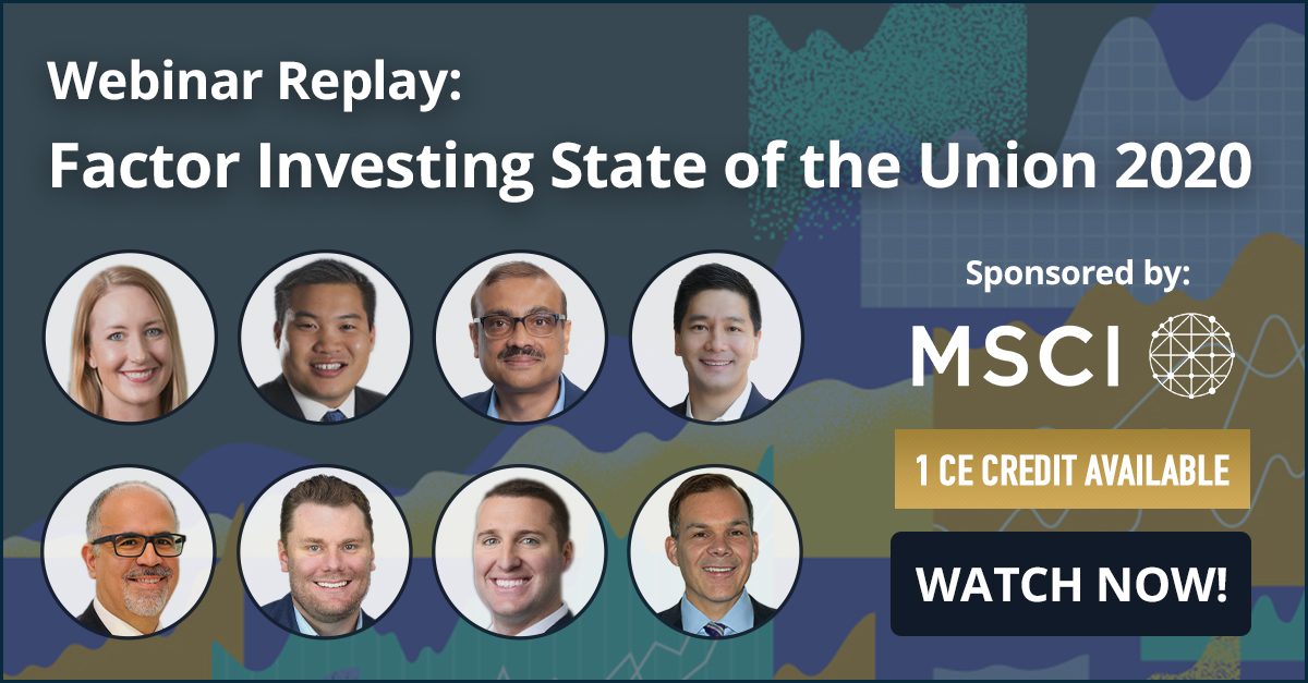 Missed the #webinar? Watch the replay available now! Esteemed industry panelists shared the latest #factor research, investment philosophies and how to implement factors in order to build better #portfolios. 1 CE Credit Available. 👉 Watch Replay: https://t.co/JpKMfB3FXj https://t.co/qOsuAFHYHA