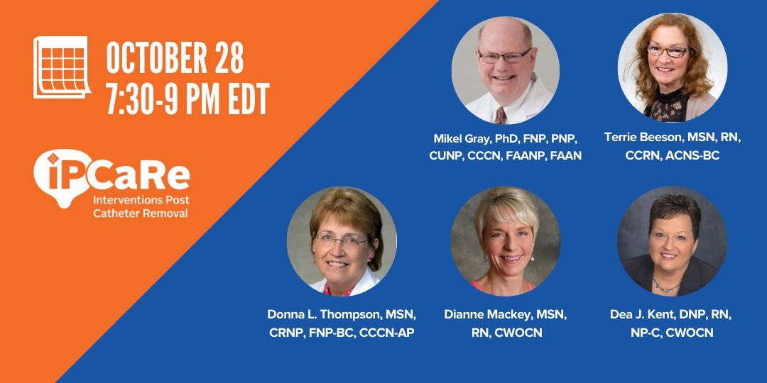 Join us LIVE tonight at 7:30 PM EDT, for a #webinar on our new decision support tool for Interventions Post #Catheter Removal (iPCaRe): https://t.co/i5LSqdkGVM. Registration is not required. You'll need to sign in as a temporary guest. https://t.co/0h9pLw4H9C