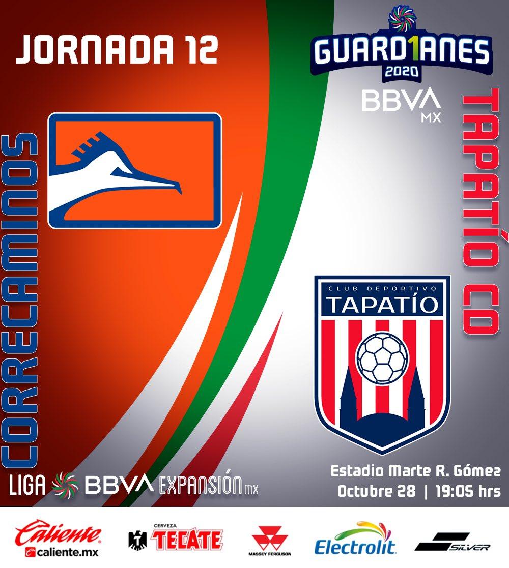 Hoy juega #Correcaminos   El equipo Naranja recibe a #Tapatío, como parte de la Jornada 12 de la Liga Expansión MX. El paetido esta programado a las 19:05 horas y será transmitido por la cadena ESPN.  #SomosMásCanchero https://t.co/JgvHewQYrj