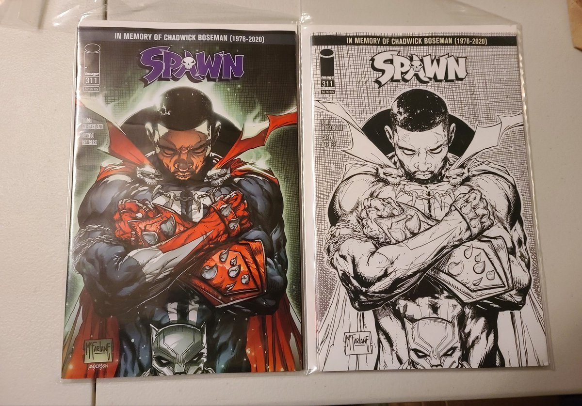 Our came in. Did you get yours? #Spawn311 #BlackPanther #chadwickboseman  #tribute https://t.co/9Qh2dyFzyh