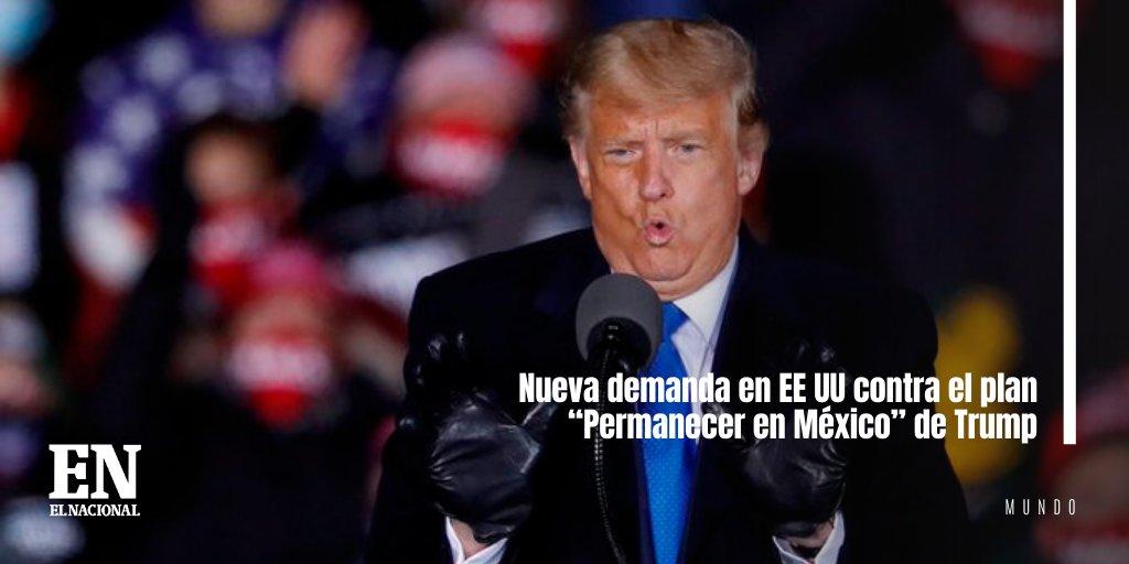 """Nueva demanda en EE UU contra el plan """"Permanecer en México"""" de Trump #ENMundo https://t.co/XWJkmGbLBL https://t.co/hEiwrnJVcN"""