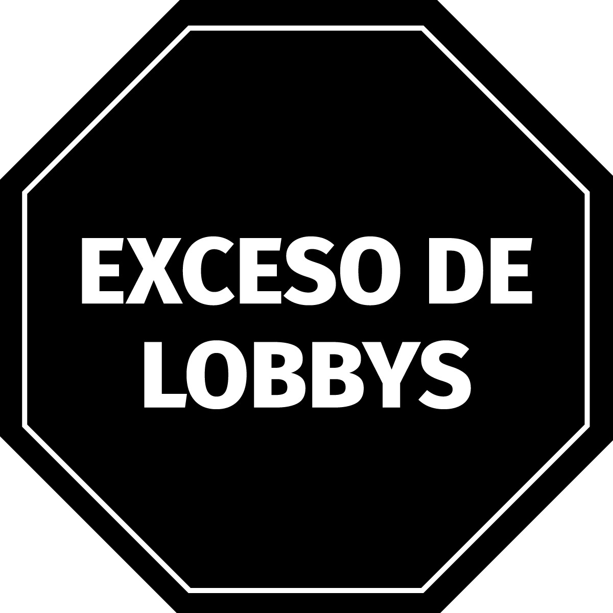 En algunos paquetes de comida chatarra y de gaseosas habría que poner este octógono. Mañana en el @SenadoArgentina se trata el  #EtiquetadoClaroYa.  #ExcesoDeLobbys https://t.co/swLKBeCmjr