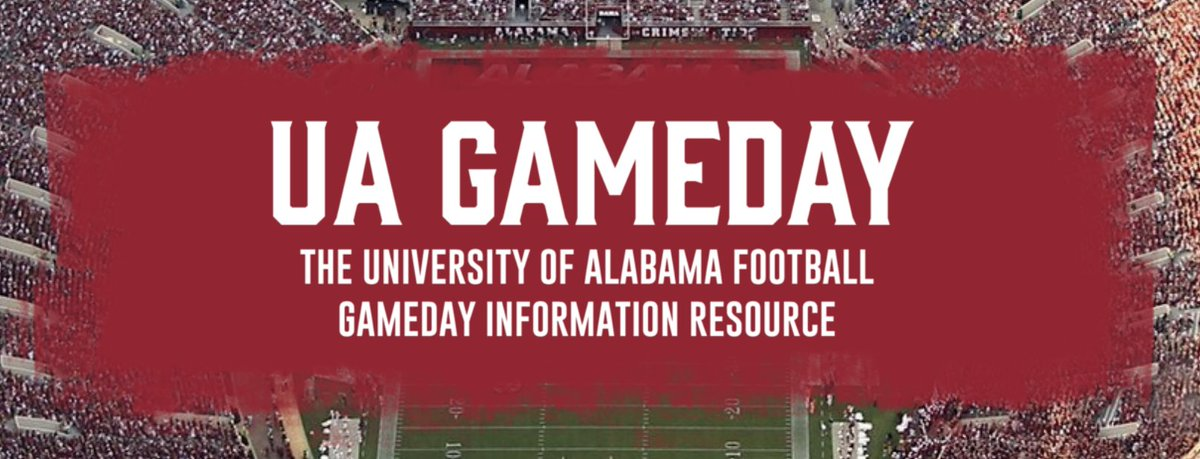 Gameday just got easier!  Check out our gameday information page! ⬇️   https://t.co/hJJ1n7E0ve #BamaGameday #RollTide https://t.co/2uXSHciH36