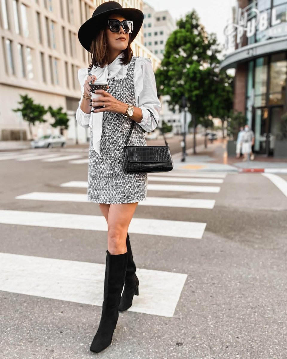 We're loving how @heyheymadirenee styled the Evelyn Heeled Boot with an elevated mini dress. Tap the photo to add these boots to your closet. https://t.co/BZl0z2YxMY https://t.co/37QcILsE7P