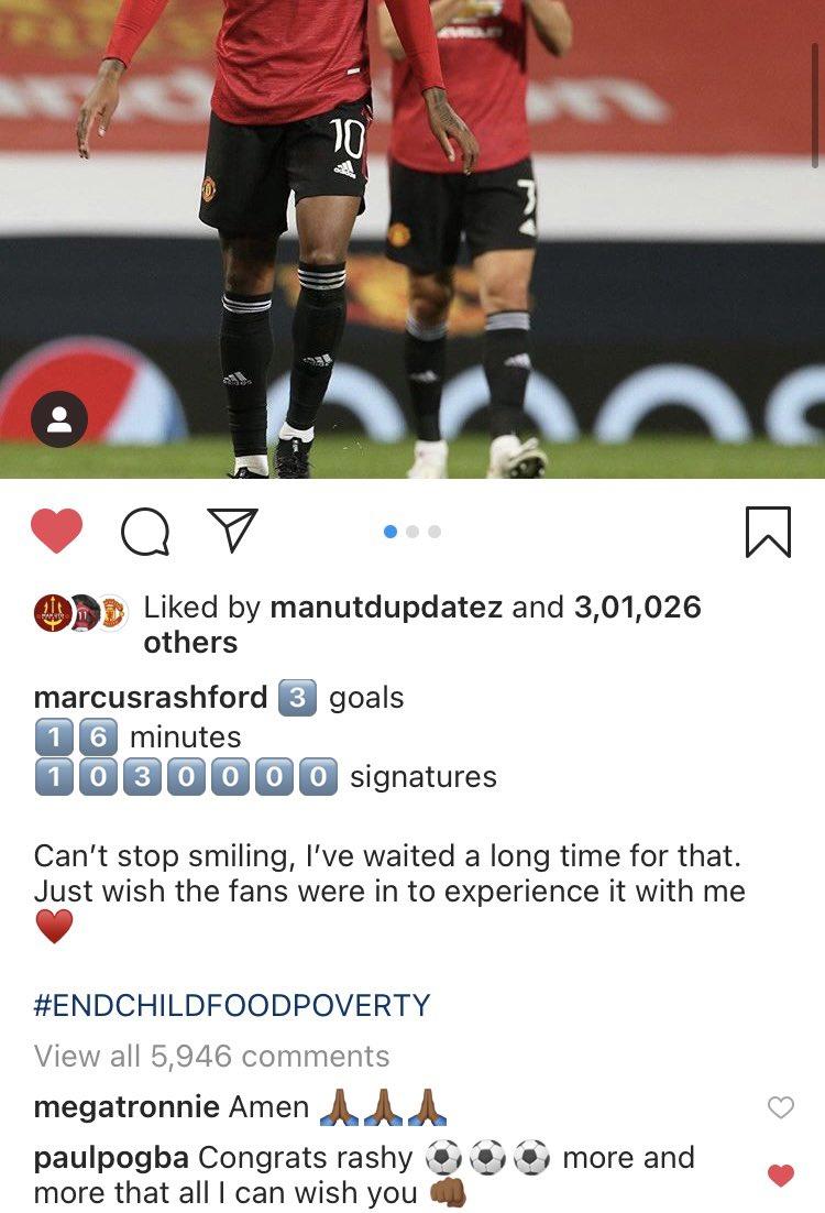 Paul pogba on marcus rashford performance today🥺🥺🥺🥺❤️ #MUFC #Pogba #rashford https://t.co/hdNuL4iUdr