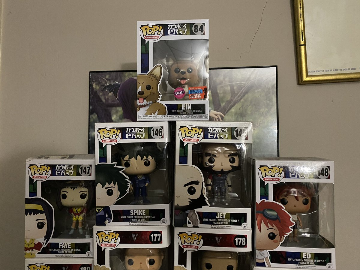 Our collection is finally complete!! #CowboyBebop #FunkoPop #havetocollectthemall https://t.co/kv5luYGupx