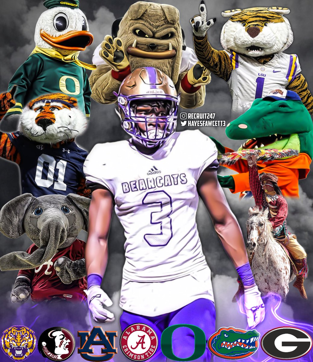 5 🌟 ATH Deyon Bouie has just Announced that he will commit Sunday, November 1st at 1:00 via his Instagram Live (per his Instagram story)  He will choose between #Oregon , #LSU , #Georgia , #Auburn , #Florida , #Alabama , and #FloridaState  Where Should He Go?👀