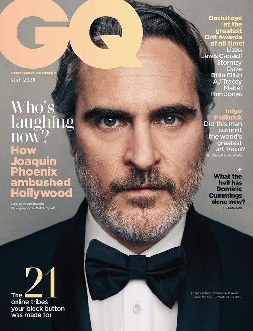 Happy Birthday to Joaquin Phoenix!   photo: British GQ Magazine (May, 2020)