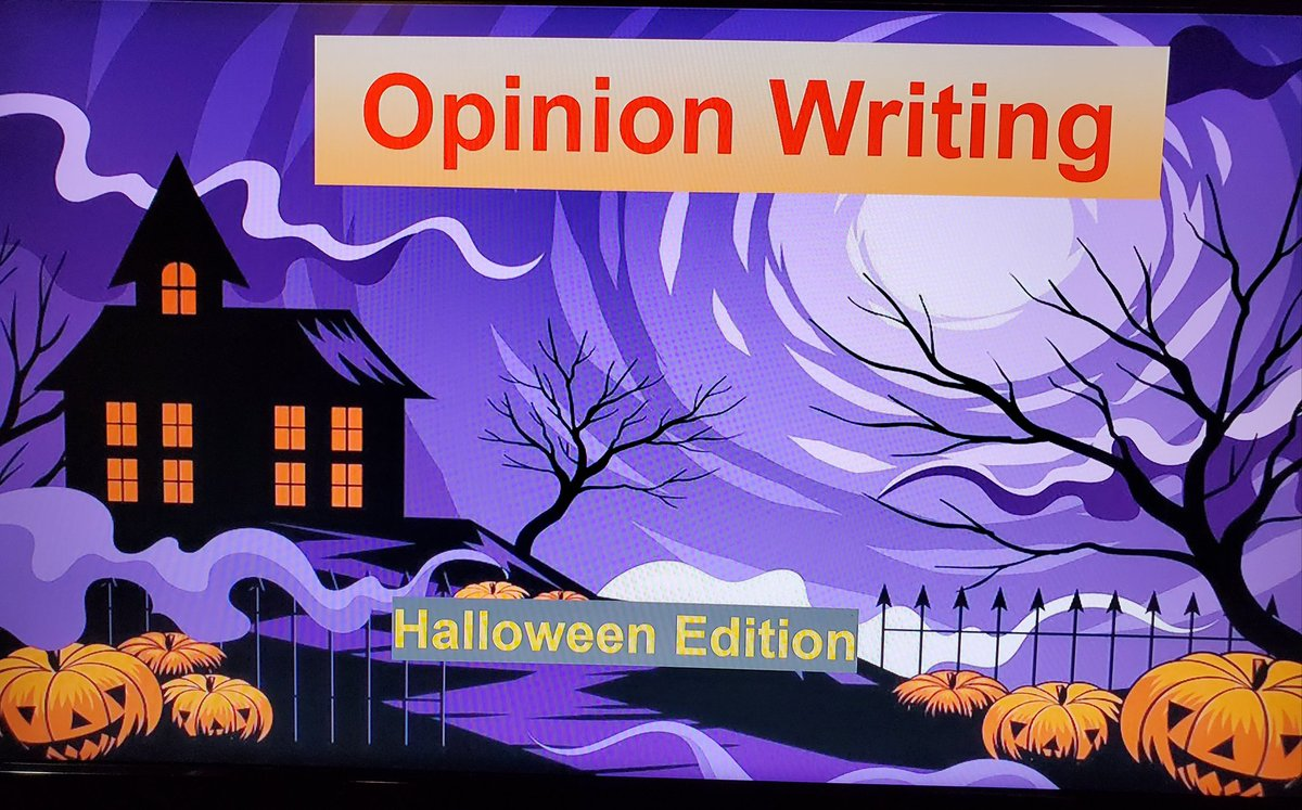 Had an awesome morning in my grade 5 practicum class! Taught my first lesson on opinion writing with a little Halloween twist on it! Was a hit with the students! #literacy #studentteacher #firstlessontaught #mhceducation #Drsuess #newfavouritequote https://t.co/9yBaO0WJqr