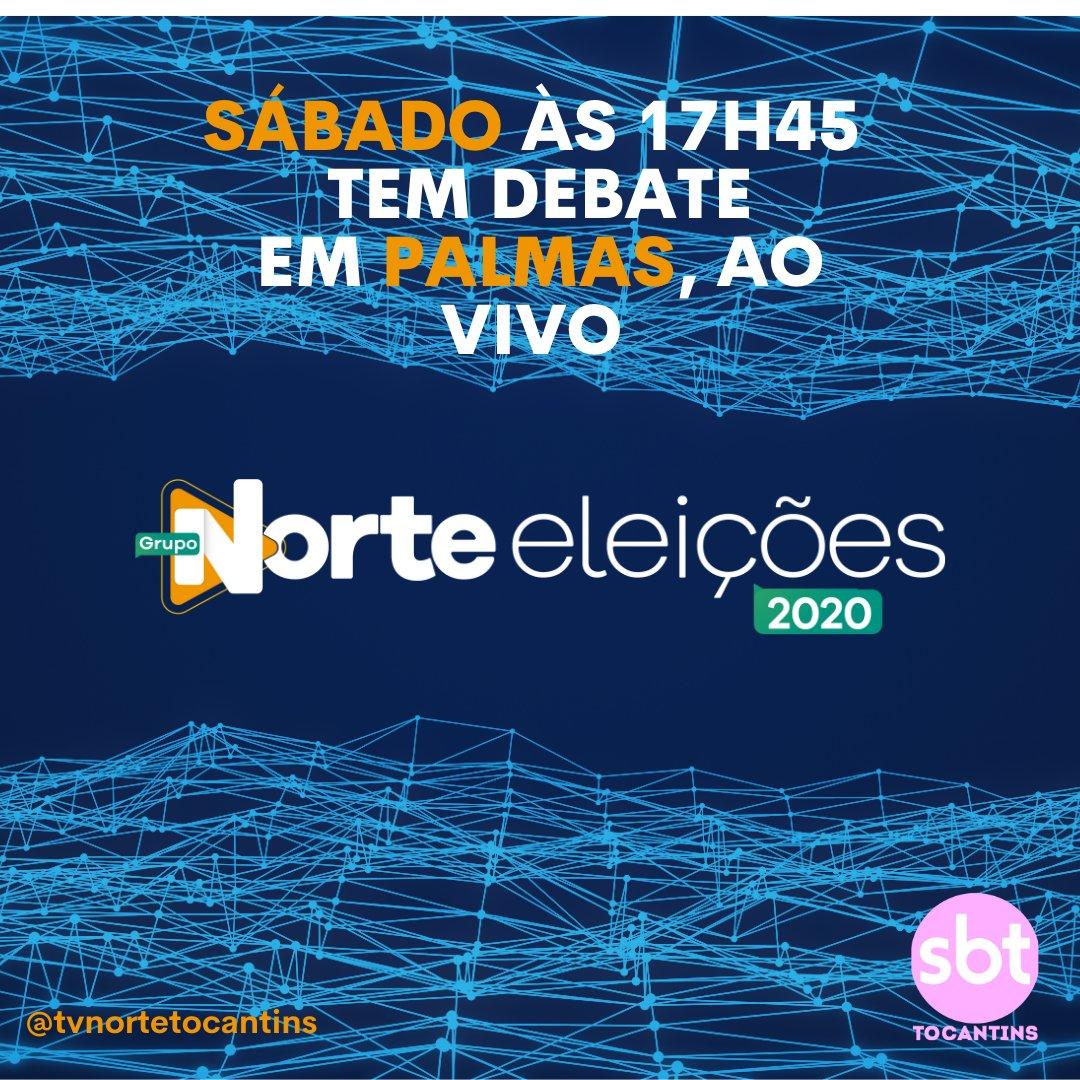 No próximo sábado, dia 31/10, você acompanha ao vivo, aqui na TV Norte Tocantins - SBT Tocantins, o debate dos candidatos à Prefeitura de Palmas.  #tvnortetocantins #sbttocantins #tvnorte #sbtonline #palmas #eleicoes2020 #debate https://t.co/Rf6WlAG9X6