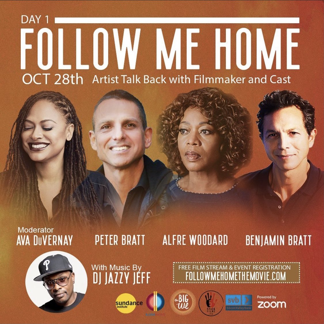 TODAY! Join me, #BenjaminBratt, Peter Bratt with special guest Filmmaker and Activist @ava as we discuss #FollowMeHome and how incredibly relevant it is to our world today. Take a ride with us! RSVP Here: followmehomethemovie.com/events