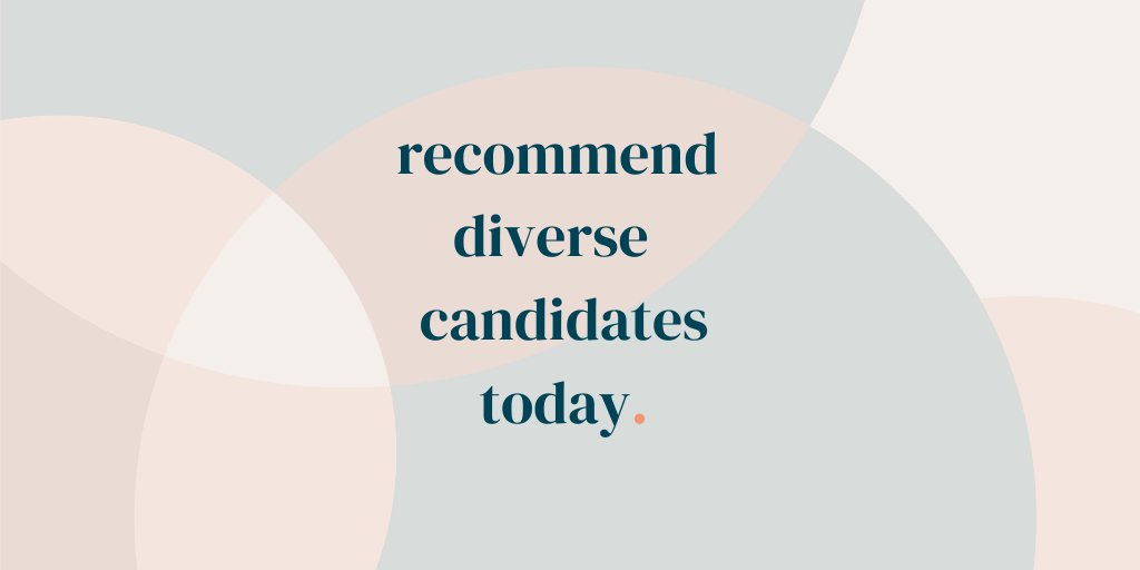 Your candidate referrals turn into -->  more underrepresented minorities in the boardroom --> which results in increased diverse representation in --> companies, and eventually the world.    Change can start with you --> Recommend diverse candidates today!