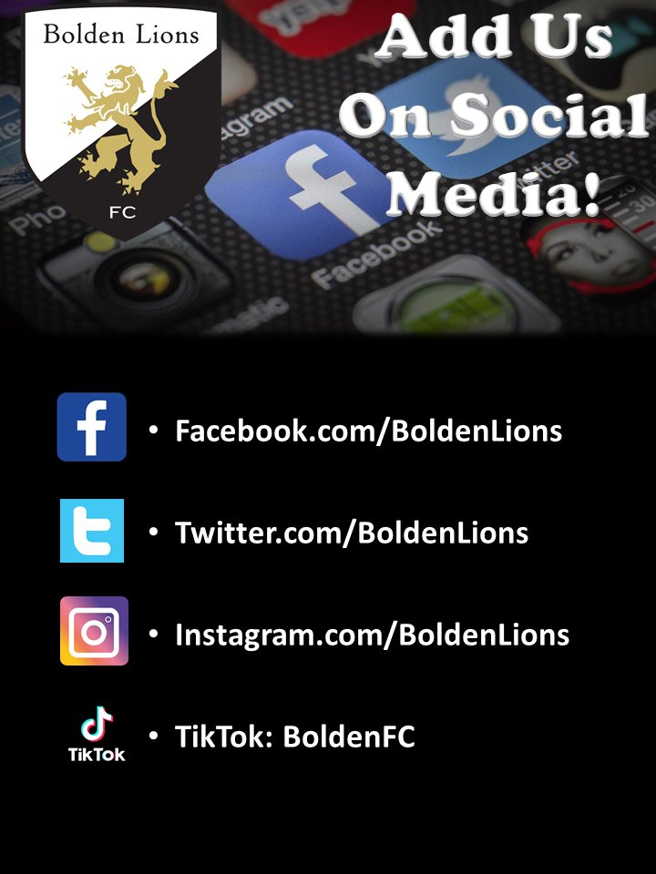 Add us on all our social media platforms to follow the progress of your Bolden Lions!  #BoldenLionsFC #BoldenLions #soccer #futbol #BLFC #youthsports #youthsoccer #LasVegas #Vegas #follow #pleasefollow #addus #share #pleaseshare #fyp #youth #onlyinvegas #sports #socialmedia https://t.co/P4njOdttsc