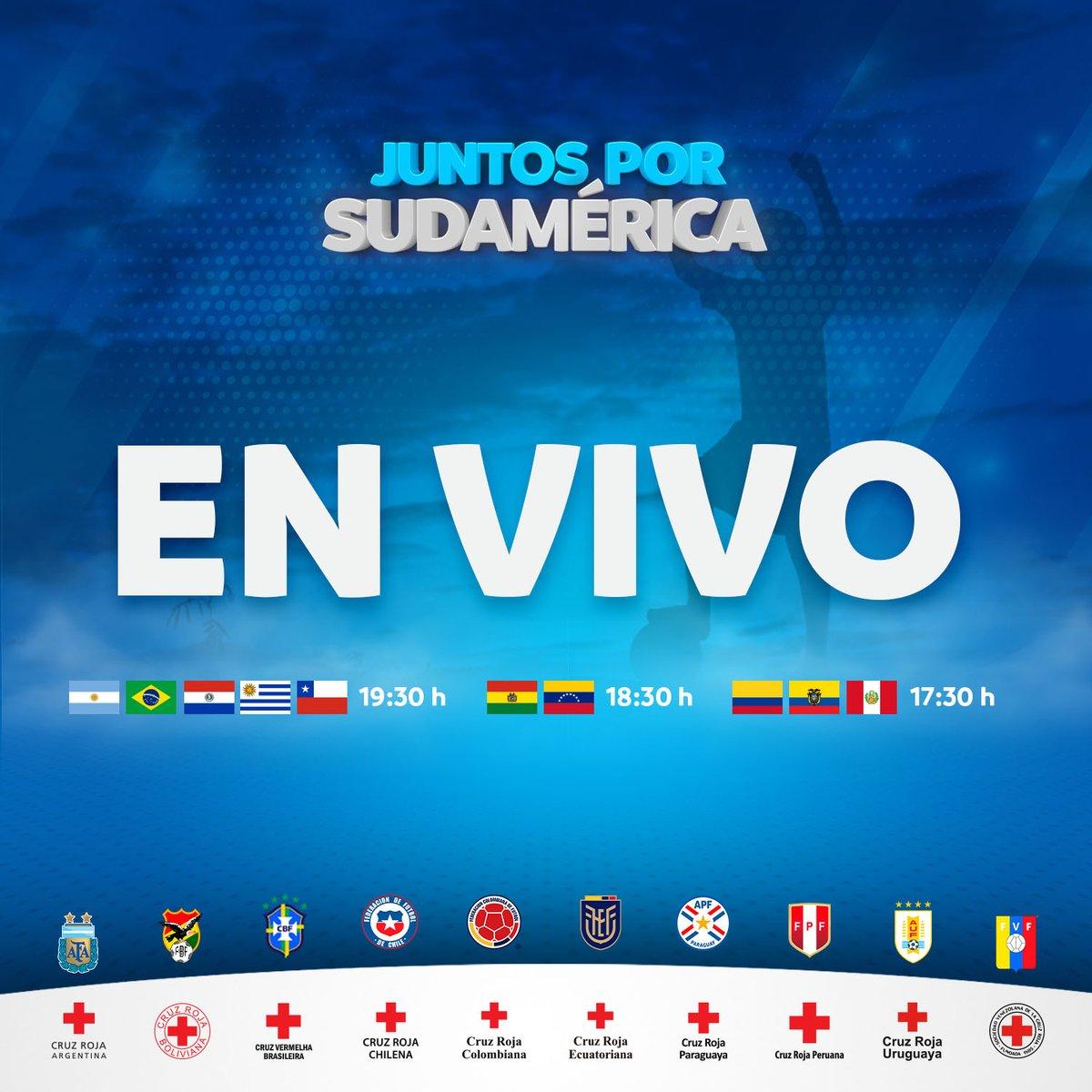 📌📅No te pierdas esta noche el cierre de la campaña solidaria #JuntosPorSudamerica   📺📲En Vivo, desde YouTube: https://t.co/4RJS9jQrmw https://t.co/KXyCzPBlFU