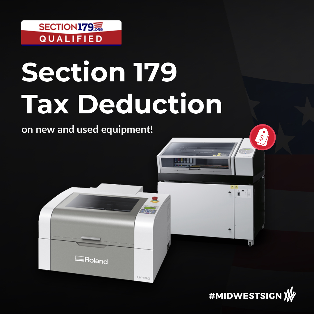Save money by bundling a laser engraver with a UV flatbed printer, AND get a special tax deduction with Section 179 👉🏽 https://t.co/1tXz8S99Hp . . #Section179 #Section179Deduction #DigitalPrinting #ScreenPrinting #SignShop #OutdoorSignage #LEDSign #VehicleWrap #MidwestSign https://t.co/cQgQQq2JAY