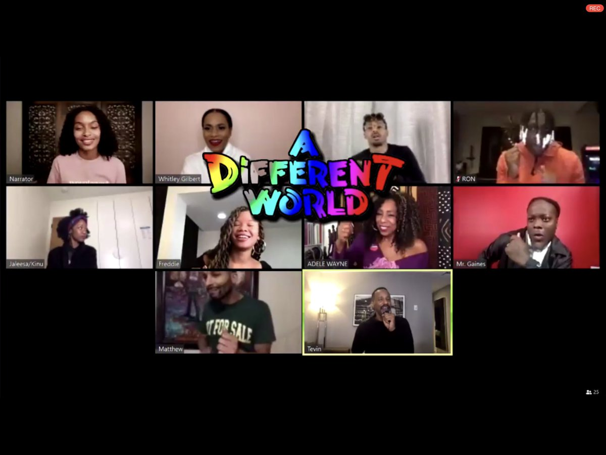 I got my entire life in the #ZoomWhereItHappens with @msdebbieallen and the cast of quarantine reimagined #Adifferentworld. @dawnn_lewis is LEGENDARY! Thank you @ARRAYNow and @LenaWaithe