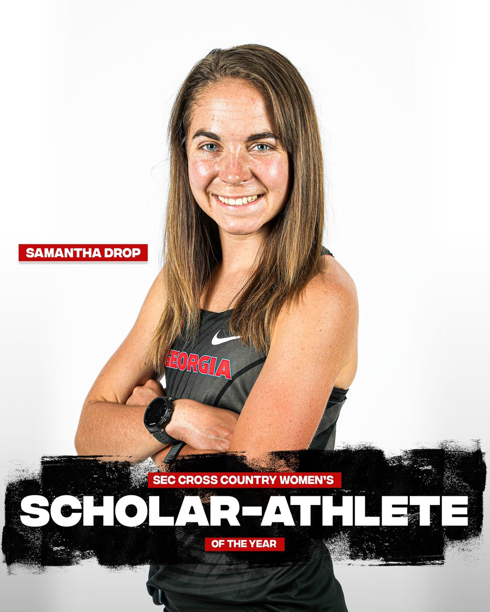 UGAAthletics: RT @UGATrack: Congrats to the #Dawgs Samantha Drop for being named the '20 SEC Cross Country Women's Scholar-Athlete of the Year!   ▶️ https://t.co/iqximXCKs8  Next stop: #SECXC20 in Baton Rouge, La., on Friday  #GoDawgs #FindYourGreatness https://t.co/vVlzx9uEIS