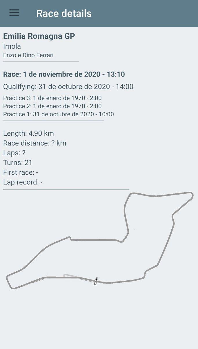 Pues nada, los Libres 2 y 3 del GP de San Marino serán el 1 de Enero de 1970 😂 #F1 https://t.co/GdmLbVqoDV