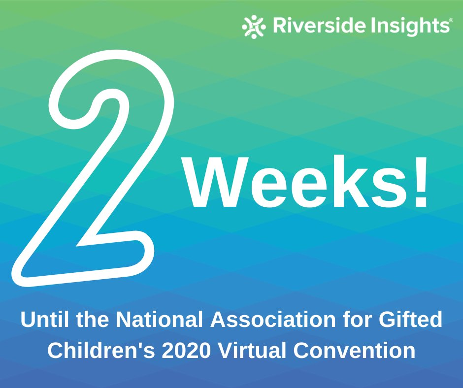 Just two weeks until the @NAGCGIFTED's 2020 Virtual Convention.   Attending the convention? Leave a comment down below and let us know. See you there!  https://t.co/6lzpKucSil  #NAGC20 #giftedminds #gifted #gtchat https://t.co/z3CmymwcTa