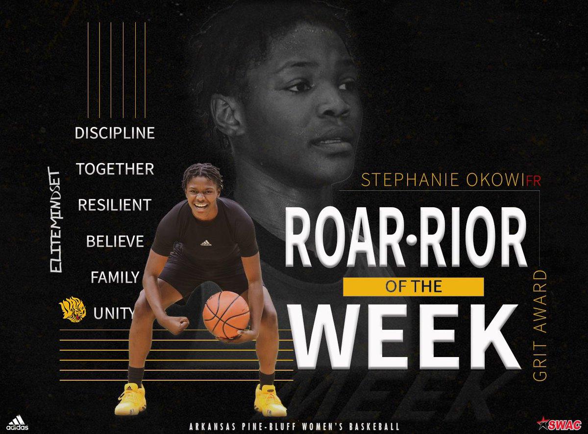 Not your average rookie 😈💪🏾❕  Cash Out Stephanie Okowi for being named ROAR•rior of the week 🦁❕ @stepy_go_crazy We are proud of you ‼️  #EliteMindset #powerofthepride🦁 #LionUP #HereTheyCome #RoarLions #UAPB #Discipline #HardWork #ExceedExpectations #LionsAreComing https://t.co/k6cpEnMNYv