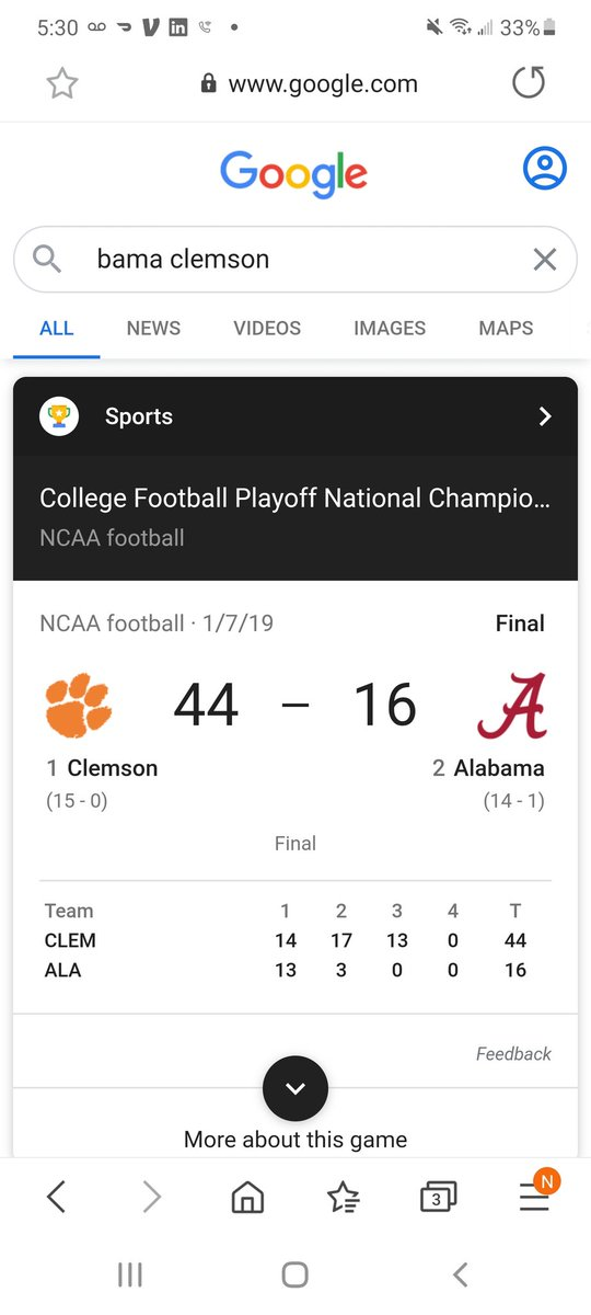 @Riversidelax39 @ErrbodyAintAble Thats a terrible argument. Clemson destroyed Bama last time played. Don't mean Bama isn't a good football team. https://t.co/va41x8Et7W