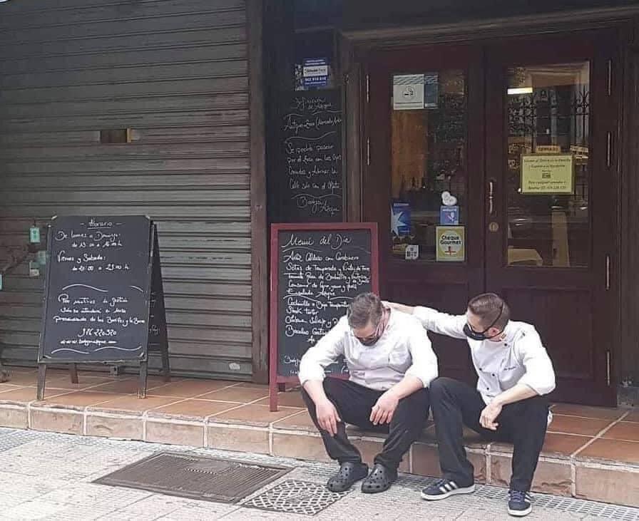 Une image vaut 1000 mots n'est ce pas ? Courage et espoir pour tous nos restaurateurs, cafés, bars et nos petites entreprises 🙏