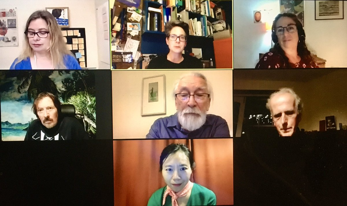 Prize Bunch. 📚 Fun watching all the @GoldsmithsPrize 2020 shortlistees - @disgwylfa, #XiaoluGuo, @mjohnharrison, #DBCPierre, @moniqueroffey and @AnakanaSchofiel - as they each read passages from their books and chatted with @EricaWgnr tonight