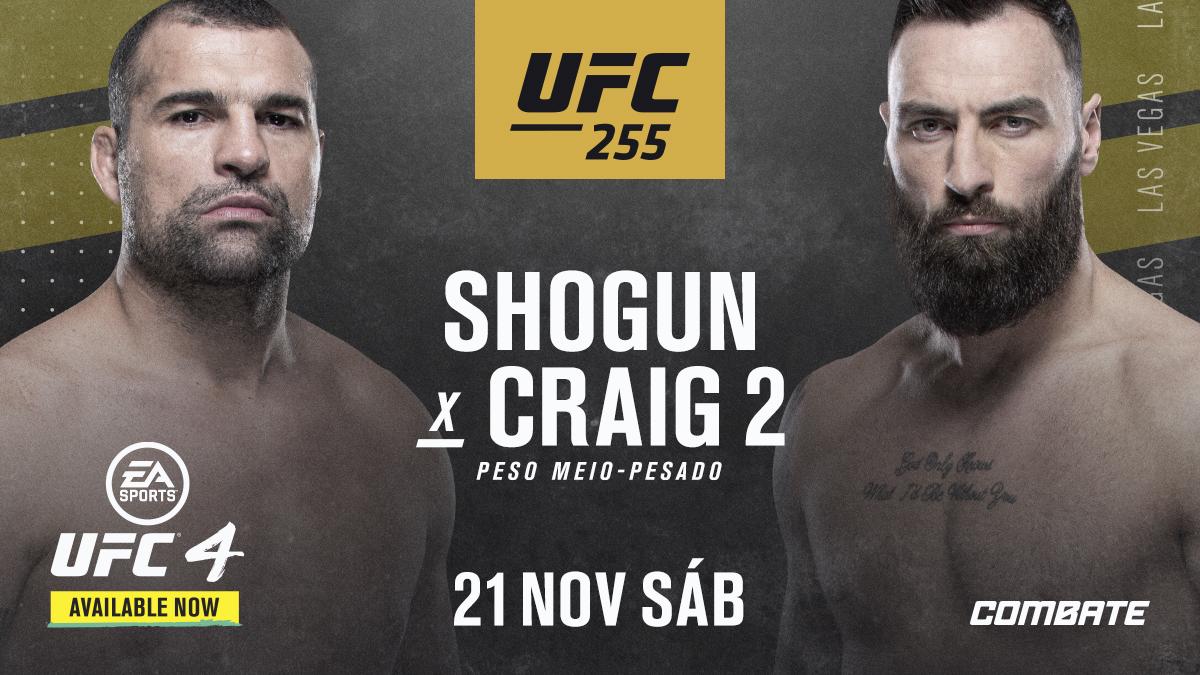 Mais brasileiros 🇧🇷 confirmados no #UFC255! A lenda @ShogunRua faz revanche com @PCraigmma, e @Ariane_lipski mede forças com @AntoninaPantera no dia 21 de novembro em Las Vegas! https://t.co/bGW5mePgP9