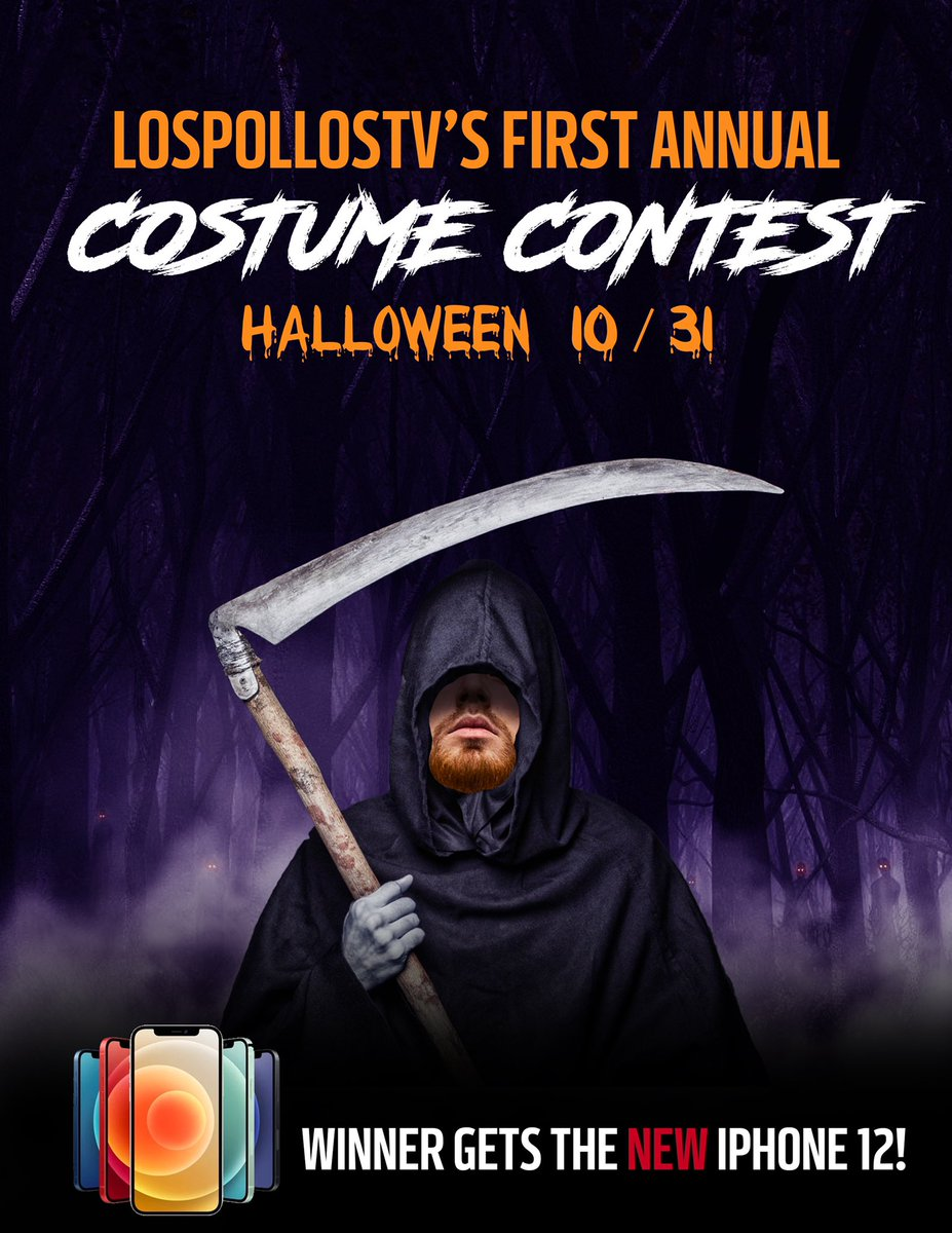 Replying to @LosPollosTV: Chat dresses up. Chat picks winner.   FT Special Guest Judges  Halloween Night - 8 PM Est.