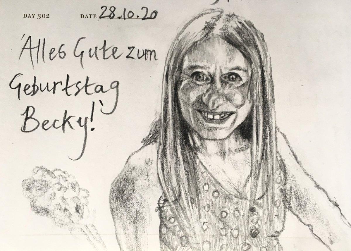 One Sketch A Day 28.10.20 'Alles Gute sum Geburtstag Becky!' #glücklichfünfzigsten #happybirthday #happy50thbirthday #goodfriends #portrait #onesketchaday #sketchbook #art #illustration #pencilsketch https://t.co/EZcF4lzc0G
