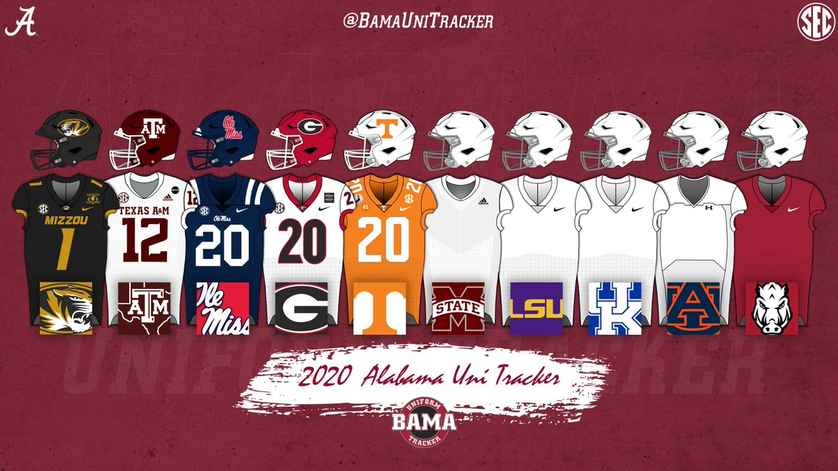 Midway through the 2020 regular season take a look at the #BamaUniTracker thus far.  #RollTide https://t.co/vi366PA8Ob