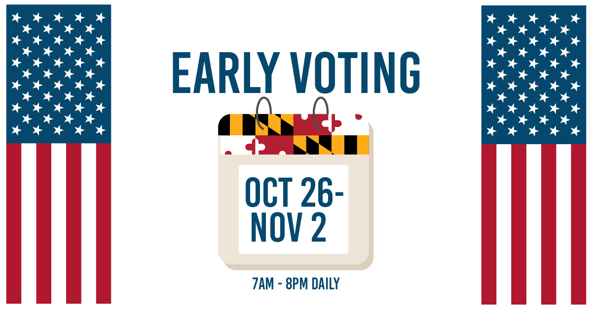 Day 3 Early Voting Unofficial Turnout: 159,426! Vote early today? Download your MD I Voted sticker at bit.ly/MDstickers Learn more about early voting, Same Day Registration, and find an early voting center in your county/City of residence: bit.ly/SBEearly #MDvotes