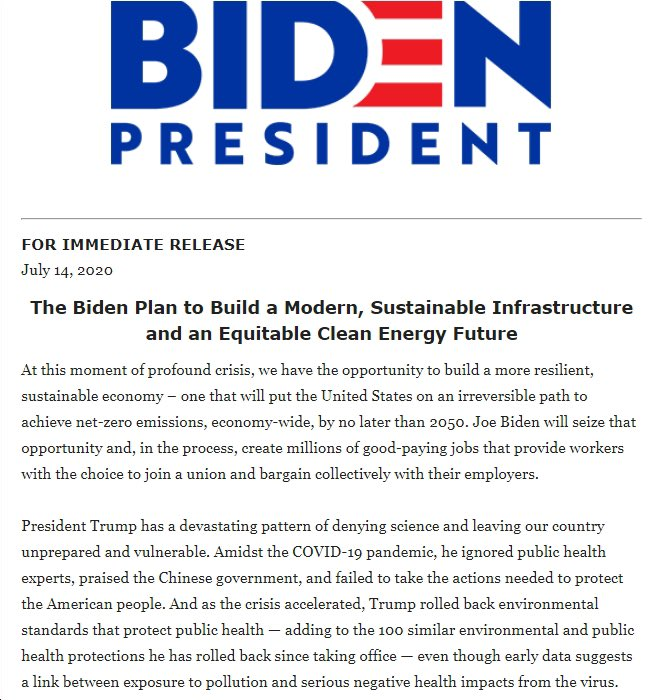 #Democrats will support the most historically far reaching public investments and private sector incentives for research, development, demonstration, and deployment of next-generation technologies, once again making the United States the world's leader in  #innovation. 9/22