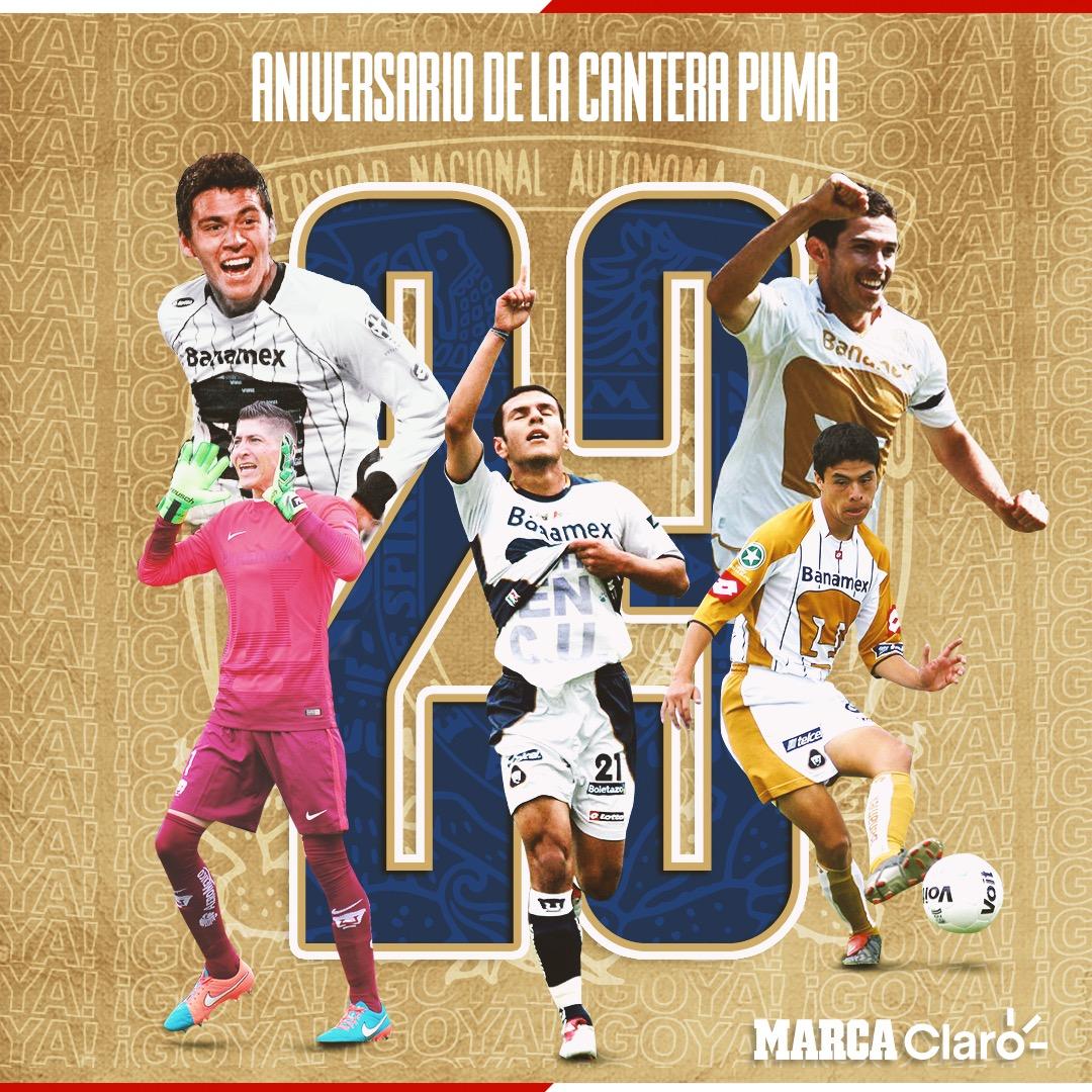 ¡DONDE SE HAN FORJADO HISTÓRICOS DEL FÚTBOL MEXICANO!🔝  HOY Pumas está de manteles largos, ya que se cumplen 23 años de la inauguración de las instalaciones de Cantera, uno de los centros de formación más importantes en el futbol mexicano⚽️  https://t.co/wZYYnyXWYH https://t.co/R0AWrNAjDn